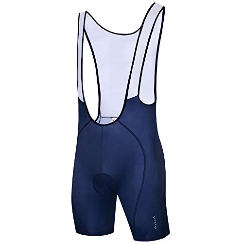 Ftiier Padded Cycling Bike Bib Shorts Road Cycle Mountain with Anti Slip Breathable Moisture Wicking 5D Gel Pad Tights Bicycle Pants for Men Black (Blue, M) ()