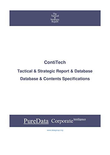 ContiTech: Tactical & Strategic Database Specifications - Frankfurt perspectives (Tactical & Strategic - Germany Book 2014)