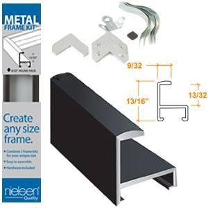 nielsen bainbridge metal frame kit black 18 in - Metal Picture Frame Kits
