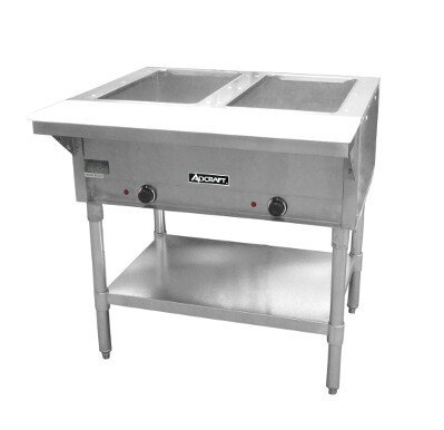 Adcraft 2 Bay Open Well Steam Table Model - Electric 2 Steam Table Wells