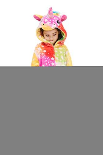 Yutown New Kids Unicorn Costume Animal Onesie Pajamas Halloween Dress Up Gift Rainbow Star 100 -