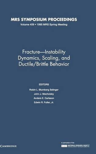 Fracture-Instability Dynamics, Scaling and Ductile/Brittle Behavior: Volume 409 (MRS Proceedings)