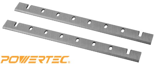 POWERTEC 12-1/2 Inch Heat Treated M2 HSS Planer Knives for DeWalt 733 | 12.5 Inch Dual Sided Replacement Planer Blades DW7332-Set of 2 | 2 Blades