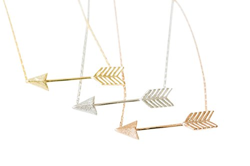 Cupid Antique (bff best friends boho bohemian sideways brave be fearless straight indian feather chevron love cupids bow n up arrow pendant charm chain statement necklace for women teens girls baby mens boy prime-hh)