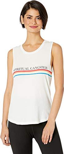 Spiritual Gangster Women's SG Rainbow Muscle Tank, Stone, Small ()