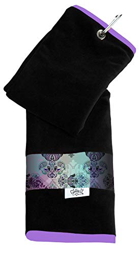 Glove It Womens Sport Towel Small Microfiber Workout Towels - Gym Towels for Women - Ladies Athletic Sports Towel - Absorbs Sweat Fast - Terry Micro Fiber - 2019 Lilac Paisley