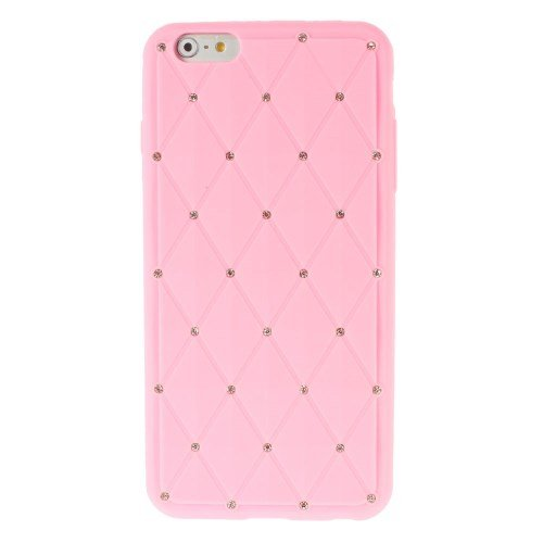 "Apple iPhone 6 Plus 5.5"" Silikon Case Starry Sky Rhombus Strass Hülle Rosa"