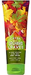 Leaves Body Cream (Bath and Body Works Crisp Orchard Leaves Ultra Shea Body Cream (24 Hour Moisture) 8 Ounce)