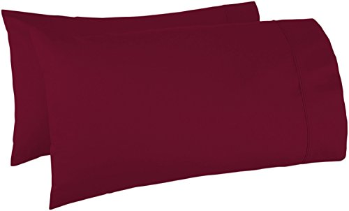 500 Thread Count 100% Egyptian Cotton Pillow Cases,Burgundy Standard Pillowcase Set of 2, Long-Staple Combed Pure Natural 100% Cotton Pillows for Sleeping,Soft & Silky Sateen Weave Bed Pillow Cover.