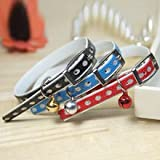 Hot sale 3 rows of Rhinestone Crystal diamond Crown pet collar PU leather Small Dog Necklace For cats Harness