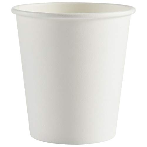Espresso Paper Cups White 4 oz Disposable To Go Coffee Cups - 200 Count Bathroom Sampling Cups - Hot/Cold Beverage Drinks Cup for Water, Juice, Tea or Coffee On the Go