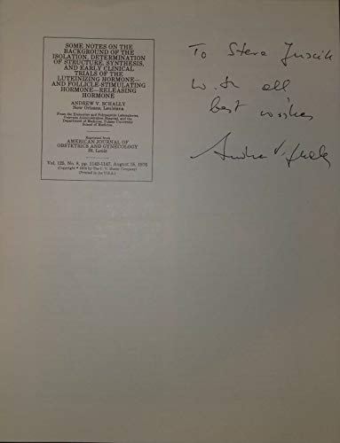 """""""Nobel Prize In Medicine"""" Andrew Schally Hand Signed Cover Todd Mueller COA from Unknown"""