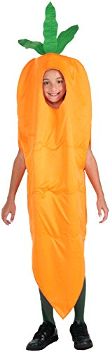 [Forum Novelties Fruits and Veggies Collection Carrot Child Costume, Medium] (Pea Costumes)