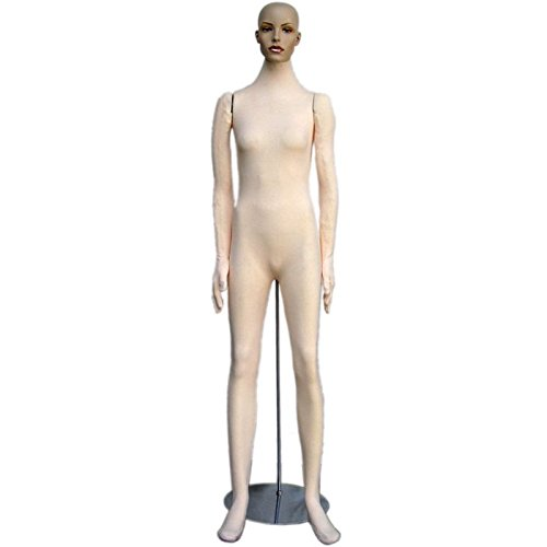 Soft Flexible Bendable Female Mannequin with Realistic Head -
