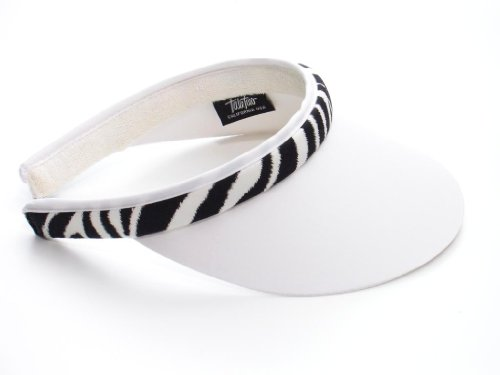 (Take Two Women's Clip On Brim Visor One Size white/zebra)