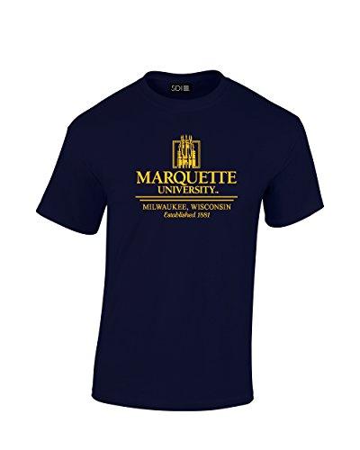 NCAA Marquette Golden Eagles Classic Seal T-Shirt, Large, Navy (Ncaa Marquette Golden Eagles Seal)