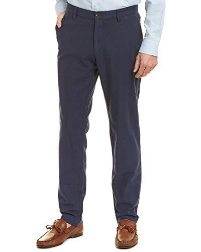 Brooks Brothers Mens Slim Fit Pant, 36/32, Blue