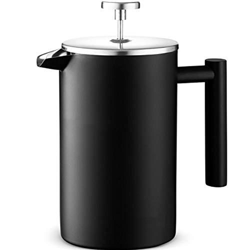 Cafeteras de émbolo Negro Esmerilado pequeña cantidad de Lavados a Mano Rayado Doble Capa de Acero Inoxidable Prensa Pot…