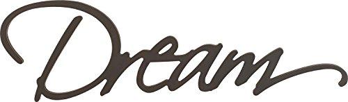 P. GRAHAM DUNN Dream Script Black 8.75 x 30 Wood Cutout Wall Word