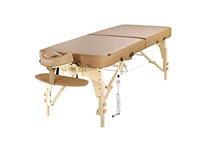 "Master Massage 30"" Phoenix Therma Top Portable Massage Table with Heating Function Otter"
