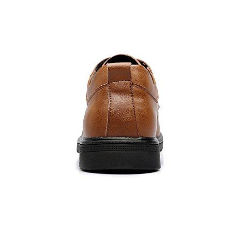 Zapatos Cuero Color Size EU shoes Clásicas Fang 39 los Ocasionales del 2018 Black los de ata Caballeros Clásicos Arriba Hombres Brown Zapatos Oxford Obras Holgazanes los para Hombre Las de para Inp4n