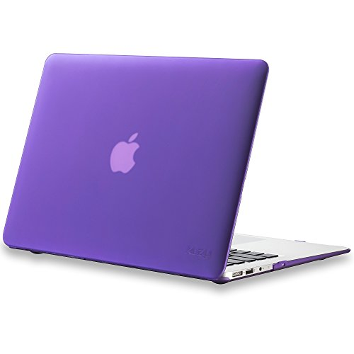 - Kuzy - AIR 13-inch Elegant Purple Rubberized Hard Case for MacBook Air 13.3