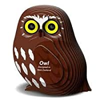 GeoToys - Eugy Cardboard Miniatures Kit, Owl 3D Puzzle - Educational Kid Toys for Boys and Girls, 24 Piece Puzzle Great for Gifts, Home and School