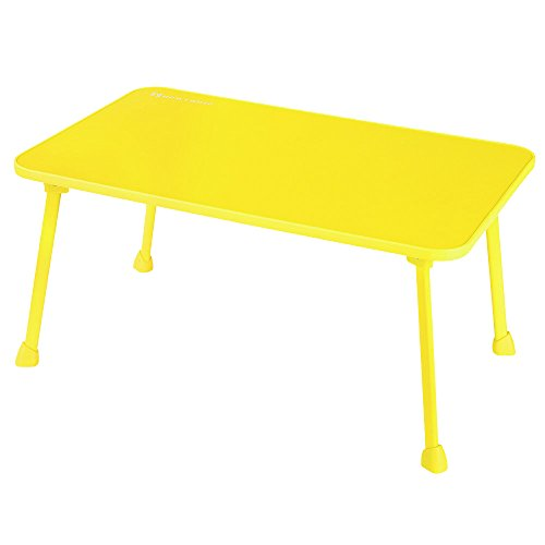 Laptop Bed Tray NNEWVANTE Laptop Desk for Bed Sofa Lap Desk Foldable Portable Standing Outdoor Camping Table, Breakfast Reading Tray Holder for Couch Floor Students Young Color(Yellow) - Bed Table Sofa
