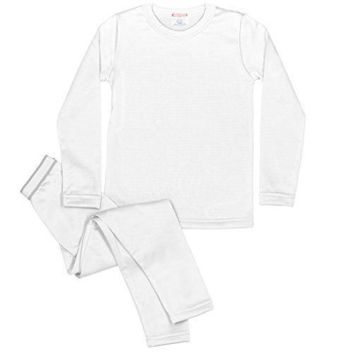 Rocky Boy's Fleece Lined Thermal Underwear 2PC Set Long John Top and Bottom (XL, (Micro Fleece Thermal)