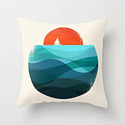 Decor Square Pillow Covers Soft Decorative Throw Pillowcases Cushion Cover for Girls,Women,Men 18x18 Inches