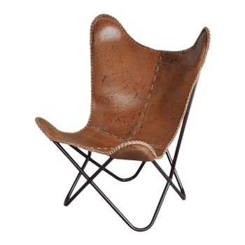 Etonnant Anti Brown Leather Butterfly Chair