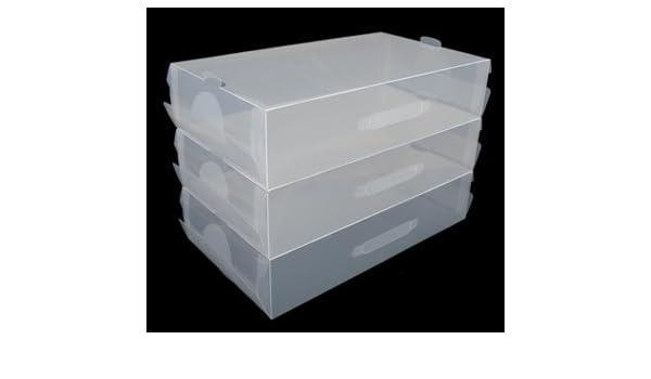 Home Storage World Cajas Transparentes para Botas - Pack de 5: Amazon.es: Hogar
