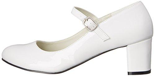 Talla 40 Con Color Tacón Mujer Blanco Funtasma Para 50 wht Schoolgirl Zapatos Pat nqZxPHCSBw