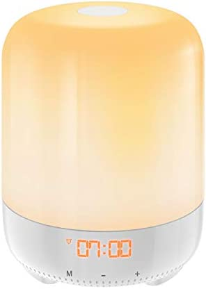 Upgraded AMIR Wake-Up Light, Sunrise Simulation Alarm Clock, Nature Night Light, 3 Brightness Bedside Lamp for Kids, Morning Wake-Up Alarm Light with Nature Sounds – Touch Control
