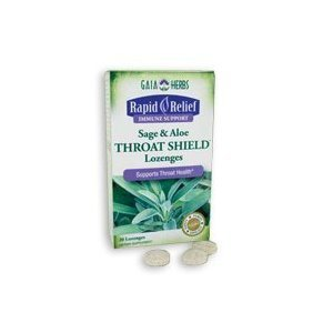 Gaia Herbs - Rapid Relief Throat Shield 20 (Throat Shield Lozenges)