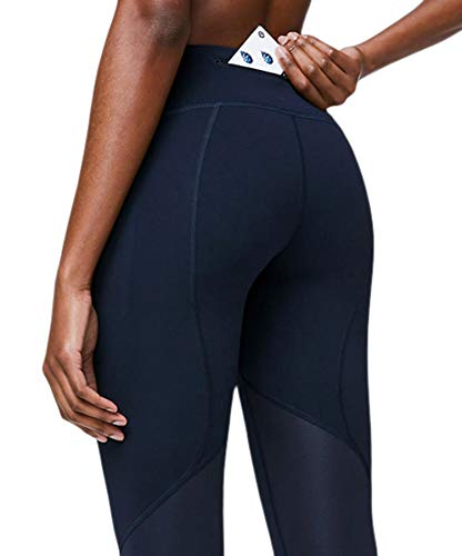 Lululemon Pace Rival Stretchy Cropped Running Leggings - High Rise, Breathable, Sculpted Fit, Navy, 2