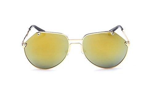 リンスペチコート宗教メガネ?サングラス グレーの蟻のサングラス/男性と女性のメタルトリムサングラス/反射サングラス (色 : 7)