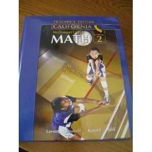 McDougal Littell Middle School Math California: Teacher's Edition Course 2 2008