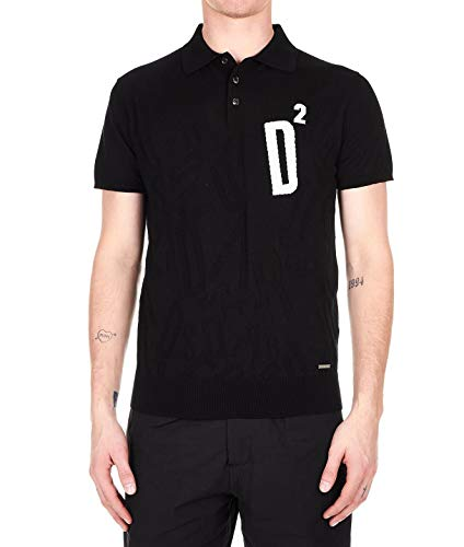 DSQUARED2 Men's S71ha0897s16683964 Black Cotton Polo Shirt