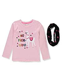 Love At First Sight Girls' L/S Top with Scarf