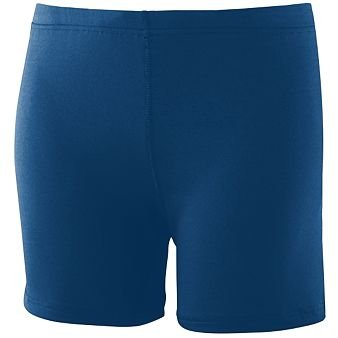 Girls Poly//Spandex 4 Short Navy Small