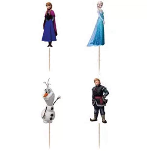 chaoiwah 24 pc Frozen Cupcake Toppers for Birthday Party Event Decor ()