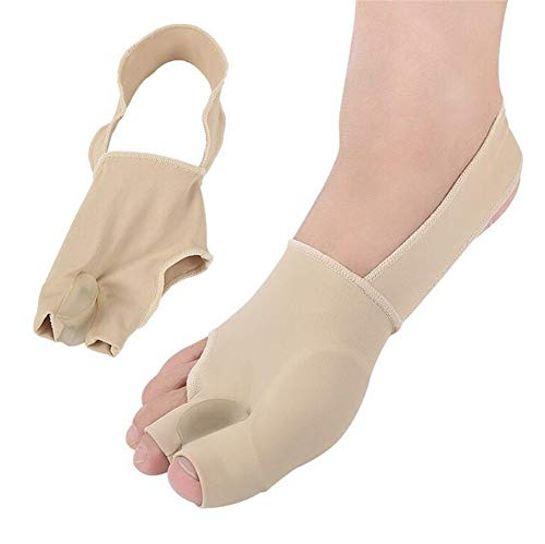 Bunion Straightener Protector Relief Sleeve w/Gel Bunion Stretchy Pads Cushioned Splint, Orthopedic Hallux Valgus Overlapping Corrector Bootie Guard Hammer Toe Pain Aid Surgery Treatment 2 Pcs (S)