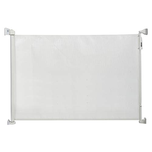 KidCo - Retractable Fabric Pet and Baby Safeway Gate Adjustable Barrier - White