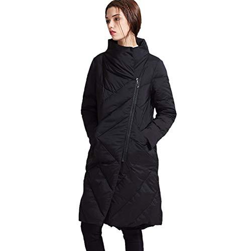 Zippée Duvet Col hod Long Veste Épais Coupe Blanc Femme Yz En Canard Black vent t4YTwqx6B