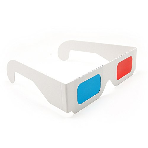 Blue Handcart 12 Pairs of Red/Cyan Cardboard 3D Glasses - White - Online Frames Eyeglasses