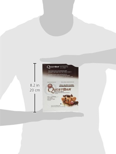 Quest Bar Chocolate Chip Cookie Dough 12 count - 2.12oz (Pack of 3)