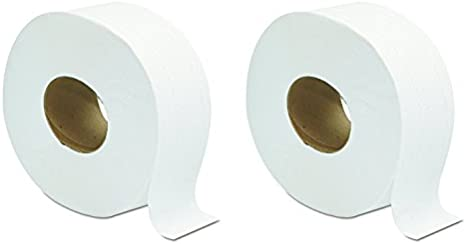 Amazon Com Gen 202 Jumbo Jrt Bath Tissue 2 Ply White 9 In Diameter Case Of 12 Rolls 2 Case Of 12 Rolls Home Kitchen