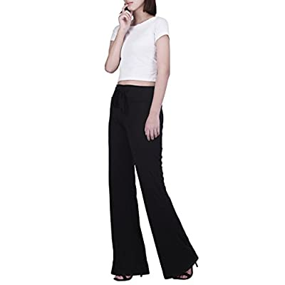 HDE Womens Pajama Pants Wide Leg Sleepwear Casual Loose Lounge PJ Bottoms at Women's Clothing store