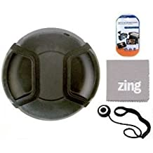72mm Universal Snap-On Lens Cap For Canon XH A1 XH A1S\xa0XH G1\xa0XH G1S\xa0CAMCORDER\xa0+ Cap Keeper + MicroFiber Cleaning Cloth + LCD Screen Protectors